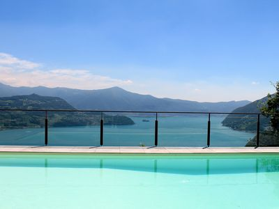 Photo for Apartment on Lake Iseo 4/6 with Pool Lake view