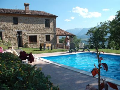 Photo for La pieve country house, villa, pool, relax, dreams house, sibillini, playground