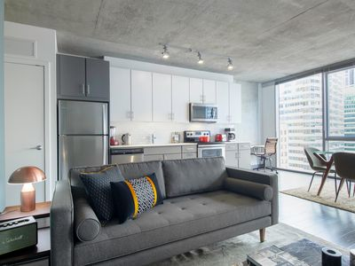 Photo for Urban Loop 1BR w/ Roofdeck, Pool, Theater, near the L, by Blueground