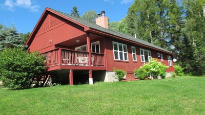 Photo for Beautiful home in a private setting, with abundant wildlife and a slight view of Rangeley lake!