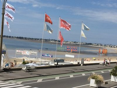 Photo for Villa facing the sea, in the center of La Baule Bay (6 people), terrace, garden