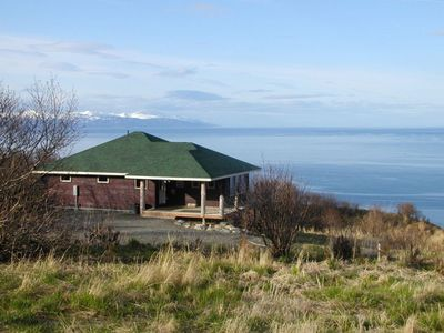 The 'Raven' Sits on the edge of the bluff overlooking Cook Inlet