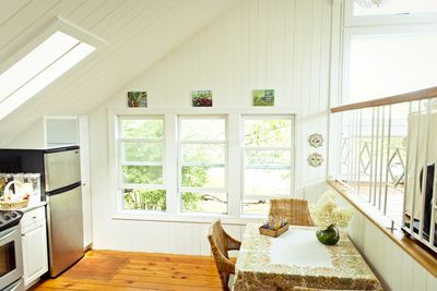 Eat in kitchen with breezy windows.