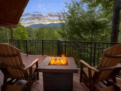 Photo for Enjoy the views from this Brand New romantic 1 bedroom Cabin!