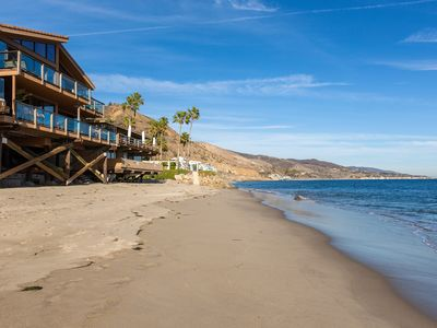 Photo for Fabulous Malibu beach house on a dry sandy beach