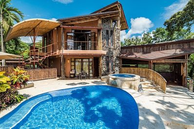 The Casa Ramon features a beautiful unique pool and jacuzzi.