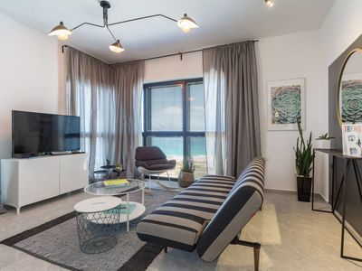 Photo for 3BR OCEAN-VIEW PRIVATE LUXURY APARTMENT - BAT YAM