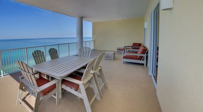 Photo for Large & Luxurious 4 Bed/4 Bath Condo.  TWO Gulf Front Masters_HUGE Balcony & BEACH CHAIRS!