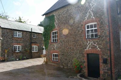 Lapford Mill (Right) and the Cottage (Left)