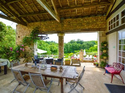Photo for Wonderful house full of charm with private pool and Moroccan garden + bar!