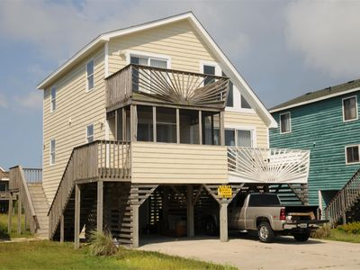 Photo for SEMI-OCEANFRONT - HOT TUB - Affordable Family vacation on the OBX -304