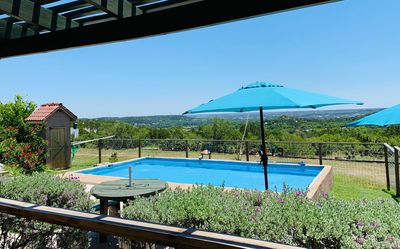 Photo for Hilltop view, Swimming pool, game room, Country setting,3mi from Guadalupe River