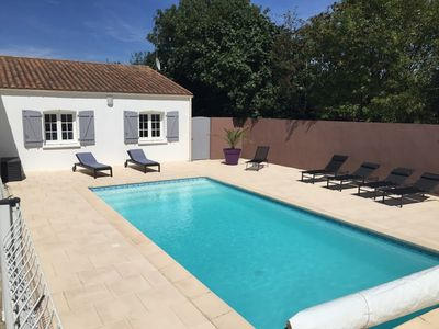 Photo for HOUSE 4 ROOMS SWIMMING POOL HEATED IN QUIET NEAR LA ROCHELLE AND ALL SHOPS
