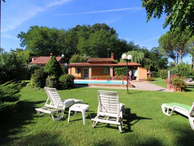 Photo for Two small houses suitable for couples, large fenced garden and swimming pool. The village of Bucine