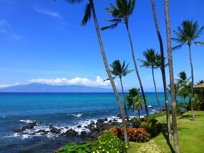 Photo for Oceanfront Mahina Surf Condo, Breaking Waves, Sea Turtles, Heated Saline Pool