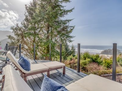 Photo for Luxury Oceanview Home with Panoramic Ocean Views, Hot Tub, Outdoor Space and Bon