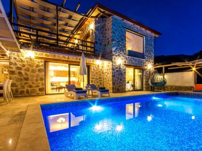 Photo for Newly built  2 Bedroom Stone Villa with Secluded Pool and Distant Sea Views