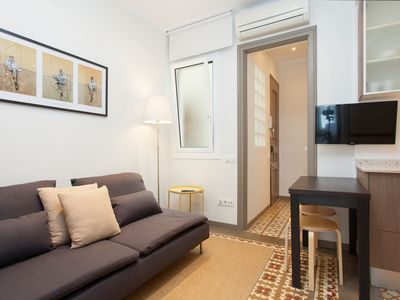 Photo for Lovely apartment with a balcony for 2