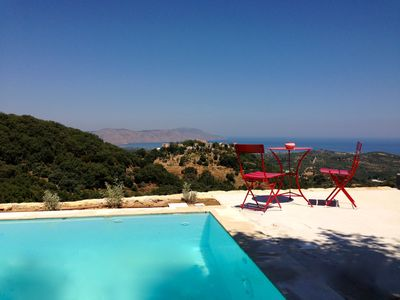 Photo for Villa renovated in 2014 with private pool and panoramic sea and mountain