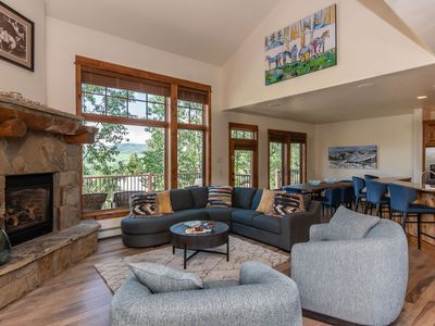 Photo for Spacious Townhome w/ Stunning Views | Walk to the Mtn. | Brand New Everything! | Private Hot Tub
