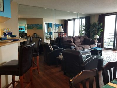 Photo for 2BR/2BA  CONDO,  NON SMOKING! Direct Beach Access! Heated pool and hot tub!