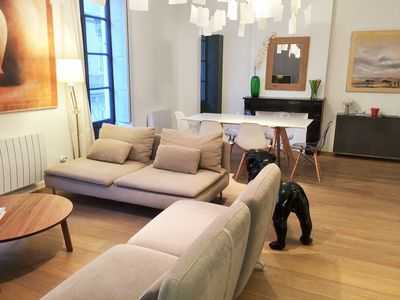 Photo for Luxury apartment ***** 100m² heart of Montpellier (near Comedy)