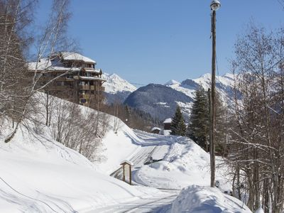 Photo for Valmorel Doucy return skier beautiful view and parking