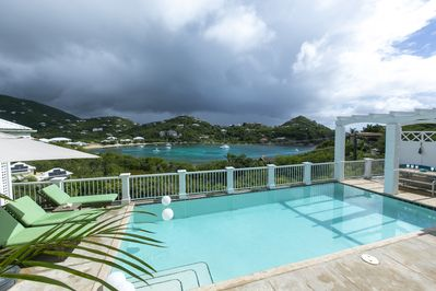 Dramatic waterview and weather views from the pool deck.