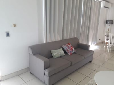 Photo for Furnished family-friendly apartment with view of ocean and steps to beach
