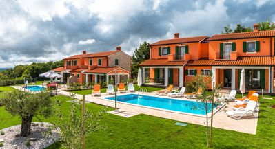 Photo for Villa Athos 2 with two apartments, pool and garden