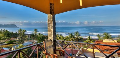 Picture perfect view from your PRIVATE, covered, rooftop balcony!