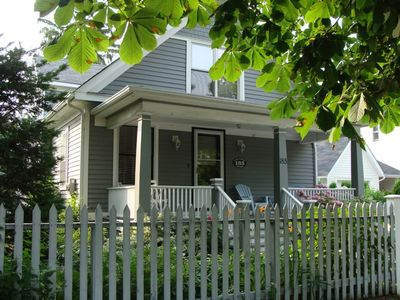 Photo for Steps from Queen Street, Historic 3 bdrm, 3 bath, Gate Street Cottage has Beautiful Gardens and Fantastic Front Porch
