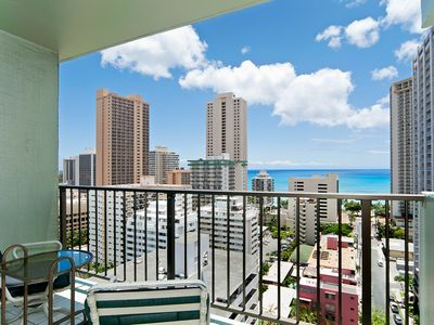 Photo for Amazing Ocean and City Views from this Comfortable Waikiki Condo Free Parking