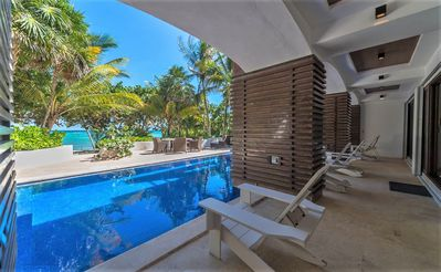 Photo for Beachfront home South Akumal Bay.  Perfect place for families and friends.