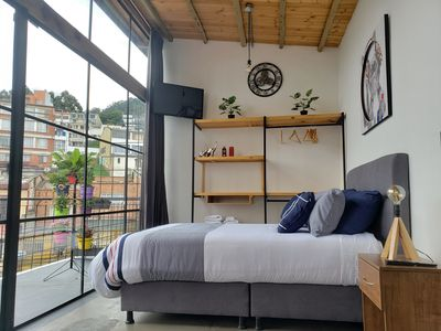 Photo for CHAPINERO - BOGOTA - INDUSTRIAL LOFT  WITH TERRACE AND BBQ - NICE & SAFE
