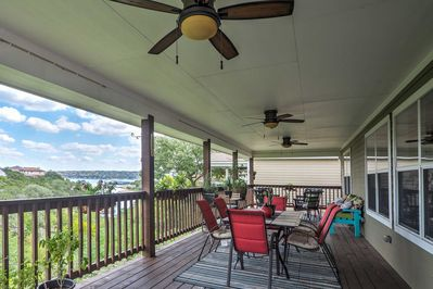 Enjoy the lake views at this Point Venture vacation rental home!