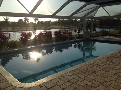 Photo for Ultimate relaxation in your home away from home! Backs to golf course!