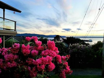Photo for Just steps to Fairhaven Village, this marvelously charming cottage style duplex has the ideal perch to watch the ever-changing views of local boat traffic on Bellingham Bay.