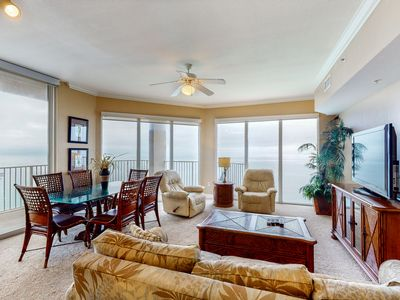 Photo for Incredible corner condo w/expansive gulf views, shared pools, hot tub, & more
