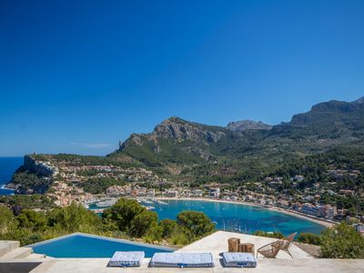 Photo for Modern Finca for 6 with pool and sea views, in Puerto de Soller, Mallorca
