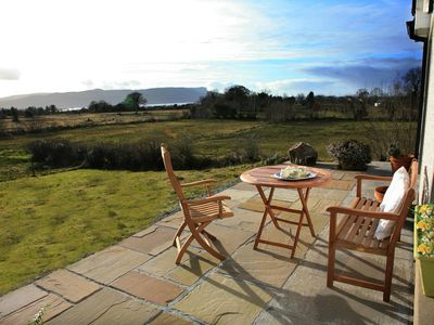 Photo for Overlooking  the Loch  Melvin and the Leitrim Hills in quiet rural location.