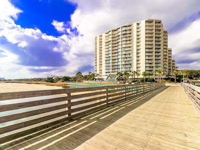 Photo for Relax Oceanfront in the South Tower - Pools, Tennis, Beach Bar!