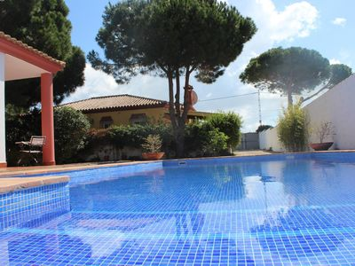 Photo for 3 Bedroom family villa with air conditioning , private pool, gardens , parking.