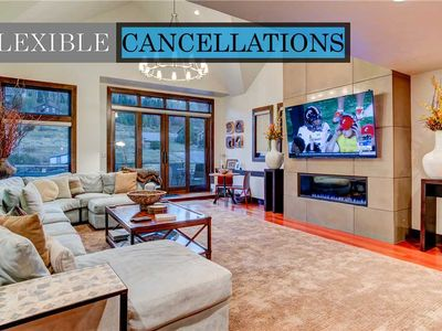 Photo for Luxury in Central Location. Shuttle outside door! Pool Table, Hot Tub, Ultra Lux
