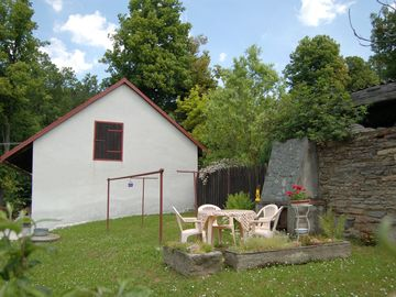 Holiday house with fishing possibility and inflatable boat for 3 persons