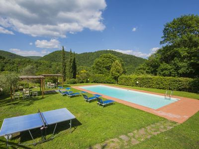 Photo for Nice apartment with pool, WIFI, TV, pets allowed and parking, close to Greve In Chianti