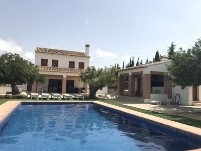 Photo for Luxury House, total privacity.  Pool & BBQ. Satell TV.Just 5 min to beach by car