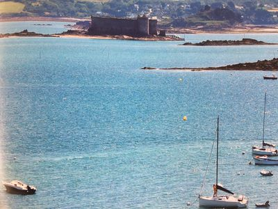 Photo for Villa 500 m from the sea beaches and GR34 (7p) with independent apartment (2p
