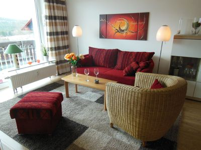 Photo for Comfort apartment, mountain view, quiet location in Hohegeiß, up to 4 pers., Wi-Fi included