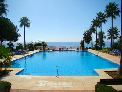 Photo for spacious apartment for 5 people on beachfront w. panoramis views
